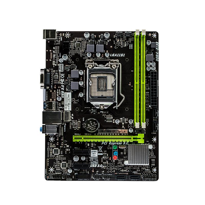 SUPox/磐正主板 H110MV-Q7 1151针脚 ddr4电脑主板 H110主板 云南主板批发