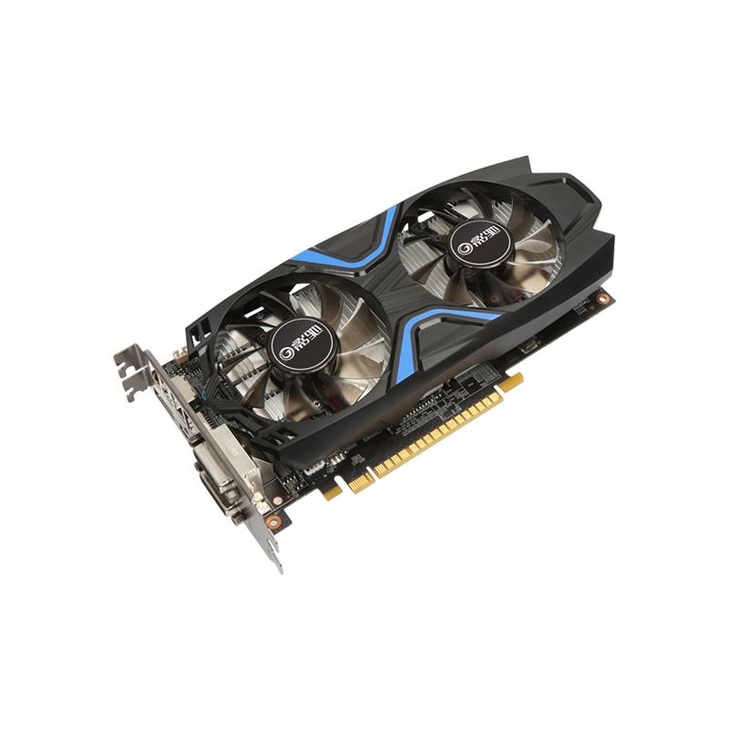 云南电脑批发力推影驰GTX1050 2G D5 黑将组装台式机游戏电脑独立显卡