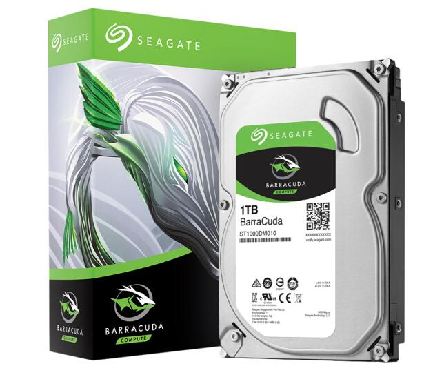 云南硬盘批发 希捷(SEAGATE)酷鱼系列 1TB 7200转64M SATA3 台式机机械硬盘