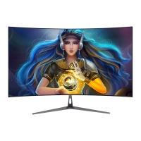 EASUNG东星U6 24寸曲面屏led电脑游戏HDMI全高清无边框白色显示器