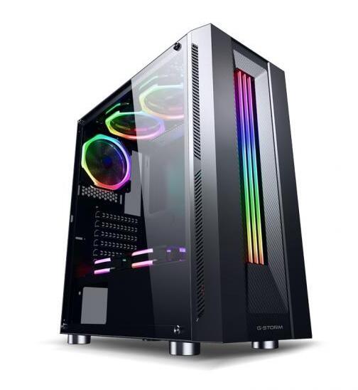 游戏风暴 魔晶(黑) 游戏机箱(RGB炫彩灯条,USB3.0机箱,对流散热,兼容SSD,长显卡