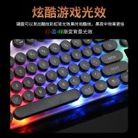贵彩 GCLEXUS G210朋克版有线USB接口游戏键帽炫酷七彩有线键盘