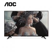 AOC 50U6086 50英寸4K超高清智能液晶电视 显示器内置音箱支持壁挂 网络电视 彩电 家电 支持WIFI (黑色)