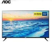 AOC 55英寸 4K超高清wifi智能网络液晶平板电视机 智能电视 55英寸4k智能款+挂架