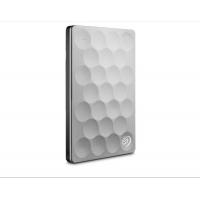 希捷(Seagate)Ultra slim睿致1T/2T移动硬盘2.5英寸 9.6mm USB3.0 1T (STEH1000300)银色 标配送防震包