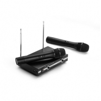 Edifier/漫步者 MW3600麦克风电脑K歌金属接收器无线话筒一拖二 黑色