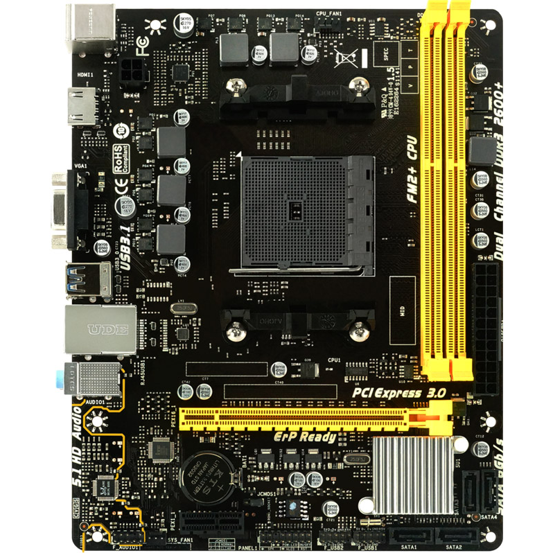 BIOSTAR/映泰 A68MHE 支持FM2+CPU HDMI高清接口