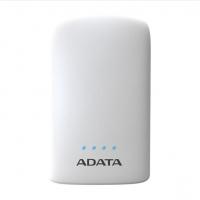 ADATA/威刚 P10050V 10050M毫安充电宝手机移动电源双USB接口 带LED照明功能 白色