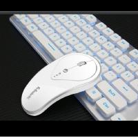 蝰蛇 WK500 充电发光游戏键鼠套装静音无线键盘鼠标套装ebay亚马逊