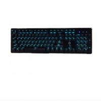 美尚e族金鸡独立 HJK920-5 豪华版机械键盘U(经典黑)黑+黑 电镀键帽