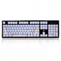 美尚e族金鸡独立 HJK920-2 豪华版机械键盘U(经典黑)黑+白 冰晶键帽