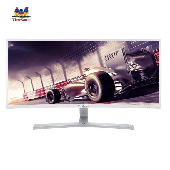 今日特价 优派 VX3515-2KC-PRO-W曲面显示器 35英寸21:9带鱼屏100hz超宽2k电竞游戏家用办公显示器