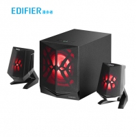 漫步者 (EDIFIER) X2 2.1声道多媒体有源蓝牙音箱 桌面电脑音箱 LED炫酷灯效 游戏音箱 黑色