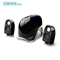 漫步者(EDIFIER)E1100MKⅡ电脑多媒体音响2.1声道外观仿生造型立体声低音炮音箱 黑色