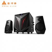 金河田 K2 多媒体蓝牙音响 2.1声道电脑音响 笔记本音箱 重低音炮音箱 黑色标准版