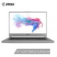 微星(msi)P65新世代 15.6英寸轻薄创意设计笔记本电脑(九代酷睿i9 16G*2 1T SSD RTX2070MQ 4K超清屏 雷电3)(P65 Creator 9SF-479CN)