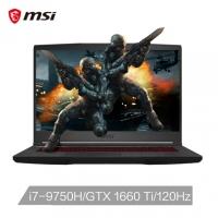 微星(msi)GF65 15.6英寸轻薄窄边框游戏笔记本(九代i7-9750H 8G 512G NVMe SSD GTX1660Ti 赛睿 120Hz电竞屏)(GF65 Thin 9SD-069CN)