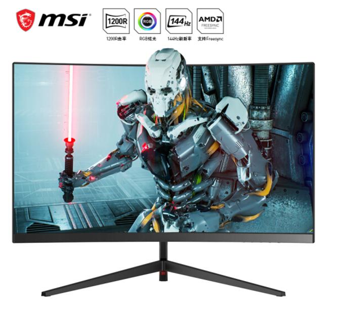 微星 (MSI )PAG241CR 24英寸 144Hz高刷新率 1200R曲率 电竞游戏电脑显示器