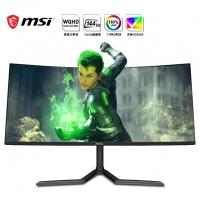 微星(MSI)PAG343CQR 34英寸 144Hz 1500R曲面 21:9 超宽带鱼屏 HDR400 WQHD 显示器