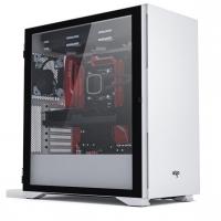 aigo爱国者YOGO K1白色 超高兼容性 9风扇位 电脑机箱(支持E-ATX/ATX主板/双360水冷/钢化玻璃