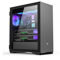 aigo爱国者YOGO M2 PRO 钛灰色 游戏鞋盒电脑机箱 E-ATX/ATX主板/360冷排/侧拉式钢化玻璃/可竖装显