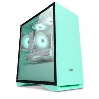 aigo爱国者YOGO M2薄荷绿 游戏药丸MINI电脑机箱(支持M-ATX主板/240水冷/侧开式磁吸钢化玻璃侧透)