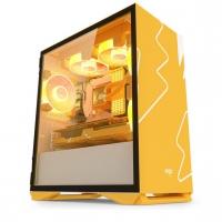 aigo爱国者YOGO M2橙白 游戏药丸MINI电脑机箱(支持M-ATX主板/240水冷/侧开式磁吸钢化玻璃侧透)
