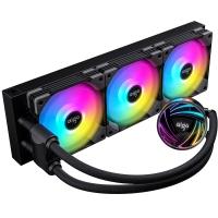 aigo爱国者银河T360 黑色 一体式水冷CPU散热器(PWM智能温控风扇/支持多平台/ARGB幻彩灯效/赠硅脂)